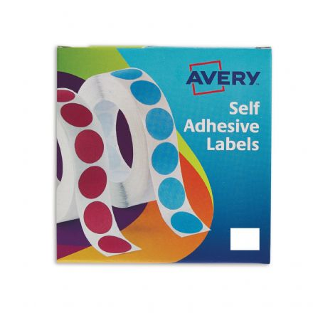 Avery Self Adhesive Labels - 1200 labels Rect 19x25mm